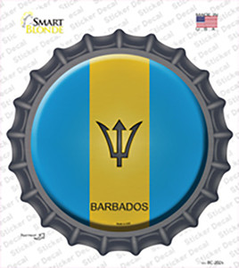 Barbados Country Wholesale Novelty Bottle Cap Sticker Decal