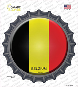 Belgium Country Wholesale Novelty Bottle Cap Sticker Decal