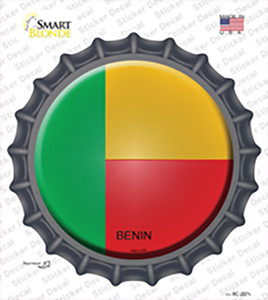 Benin Country Wholesale Novelty Bottle Cap Sticker Decal