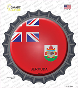 Bermuda Country Wholesale Novelty Bottle Cap Sticker Decal