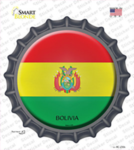 Bolivia Country Wholesale Novelty Bottle Cap Sticker Decal