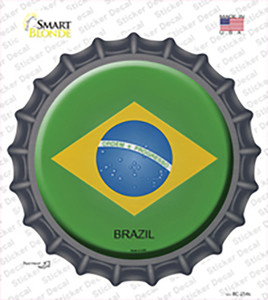 Brazil Country Wholesale Novelty Bottle Cap Sticker Decal