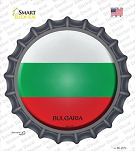 Bulgaria Country Wholesale Novelty Bottle Cap Sticker Decal