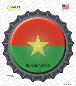 Burkina Faso Country Wholesale Novelty Bottle Cap Sticker Decal