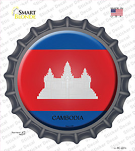 Cambodia Country Wholesale Novelty Bottle Cap Sticker Decal
