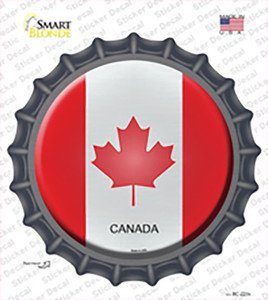 Canada Country Wholesale Novelty Bottle Cap Sticker Decal