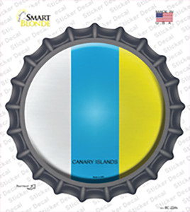 Canari Islands Country Wholesale Novelty Bottle Cap Sticker Decal