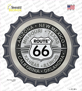 Route 66 States Wholesale Novelty Bottle Cap Sticker Decal
