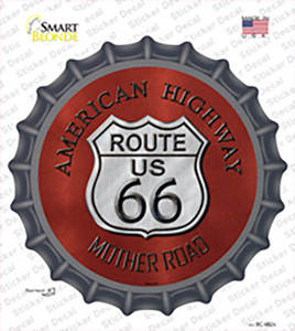 Route 66 American Highway Wholesale Novelty Bottle Cap Sticker Decal