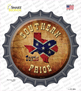 Southern Pride Texas Wholesale Novelty Bottle Cap Sticker Decal
