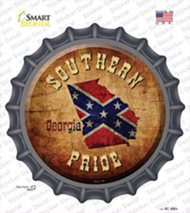 Southern Pride Georgia Wholesale Novelty Bottle Cap Sticker Decal