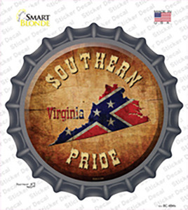 Southern Pride Virginia Wholesale Novelty Bottle Cap Sticker Decal