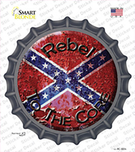 Rebel To The Core Wholesale Novelty Bottle Cap Sticker Decal
