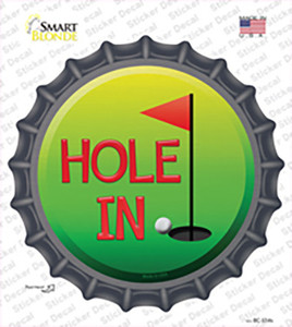Hole In One Wholesale Novelty Bottle Cap Sticker Decal