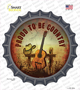 Proud To Be Country Wholesale Novelty Bottle Cap Sticker Decal