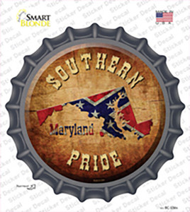 Southern Pride Maryland Wholesale Novelty Bottle Cap Sticker Decal
