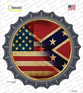 American Confederate Flag Wholesale Novelty Bottle Cap Sticker Decal