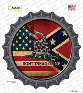 American Confederate Dont Tread On Me Wholesale Novelty Bottle Cap Sticker Decal
