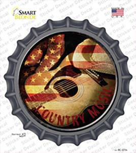 Country Music Wholesale Novelty Bottle Cap Sticker Decal