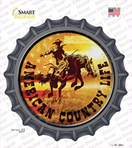 American Country Life Wholesale Novelty Bottle Cap Sticker Decal