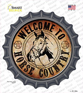 Horse Country Wholesale Novelty Bottle Cap Sticker Decal