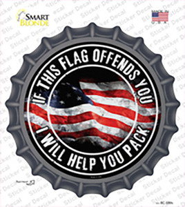This Flag Offends You Wholesale Novelty Bottle Cap Sticker Decal
