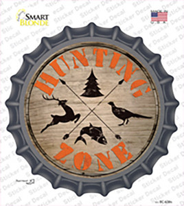 Hunting Zone Wholesale Novelty Bottle Cap Sticker Decal
