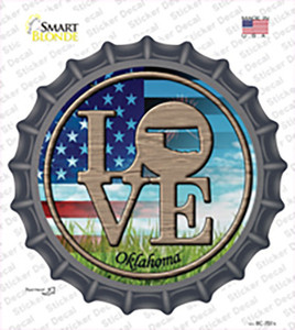 Love Oklahoma Wholesale Novelty Bottle Cap Sticker Decal