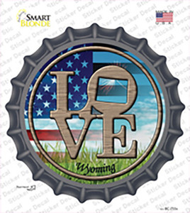 Love Wyoming Wholesale Novelty Bottle Cap Sticker Decal