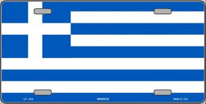 Greece Flag Wholesale Metal Novelty License Plate LP-1429