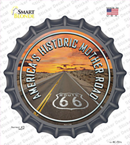 Mother Road Route 66 Wholesale Novelty Bottle Cap Sticker Decal