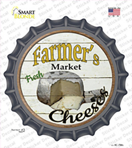 Farmers Market Cheeses Wholesale Novelty Bottle Cap Sticker Decal