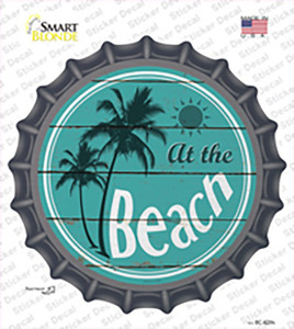 At The Beach Wholesale Novelty Bottle Cap Sticker Decal
