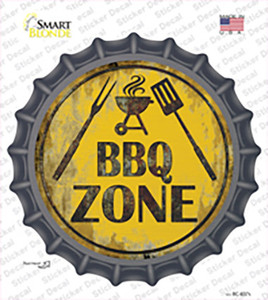 BBQ Zone Wholesale Novelty Bottle Cap Sticker Decal
