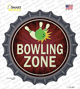 Bowling Zone Wholesale Novelty Bottle Cap Sticker Decal