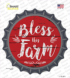 Bless This Farm Wholesale Novelty Bottle Cap Sticker Decal