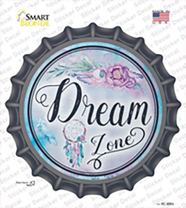Dream Zone Wholesale Novelty Bottle Cap Sticker Decal