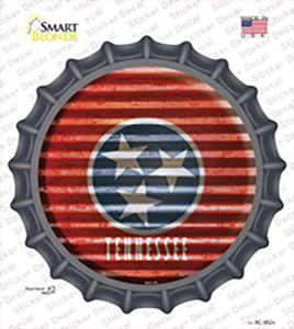 Tennessee Flag Corrugated Wholesale Novelty Bottle Cap Sticker Decal