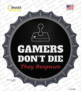 Atari Gamers Dont Die Wholesale Novelty Bottle Cap Sticker Decal