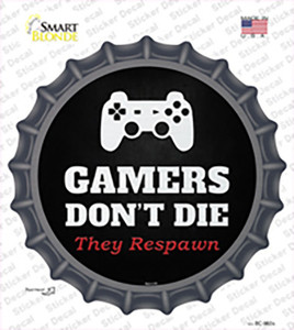 PlayStation Gamers Dont Die Wholesale Novelty Bottle Cap Sticker Decal