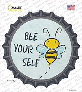 Bee Yourself Wholesale Novelty Bottle Cap Sticker Decal