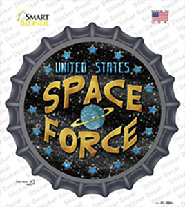 US Space Force Wholesale Novelty Bottle Cap Sticker Decal