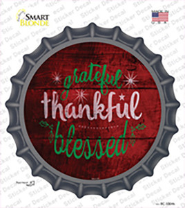 Grateful and Blessed Wholesale Novelty Bottle Cap Sticker Decal