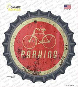 Bicycle Parking Wholesale Novelty Bottle Cap Sticker Decal