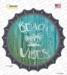 Beach Vibes Wholesale Novelty Bottle Cap Sticker Decal