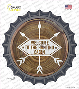 Welcome to the Hunting Cabin Wholesale Novelty Bottle Cap Sticker Decal