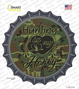 Hunting Is My Hobby Wholesale Novelty Bottle Cap Sticker Decal