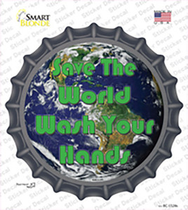 Save the World Wholesale Novelty Bottle Cap Sticker Decal