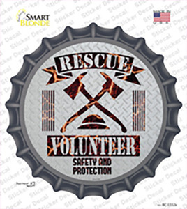 Rescue Volunteer Wholesale Novelty Bottle Cap Sticker Decal