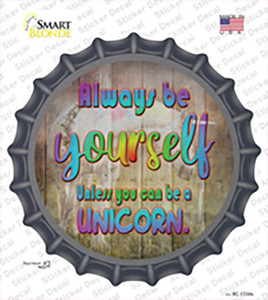 Be Yourself Wholesale Novelty Bottle Cap Sticker Decal